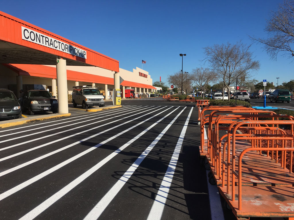Retail Chain – Home Depot – Striping (6)
